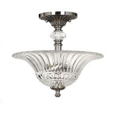 $110 allen + roth 16.93-in W Semi-Flush Mount Ceiling Light