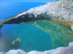natural pool, Thasos, Greece