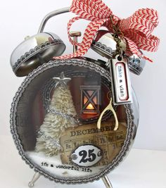 Christmas Assemblage Clock with instructions