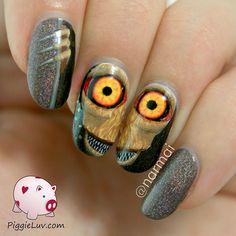 Creepy Halloween Nail Art Ideas By PiggieLuv