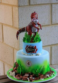 Its all about buttercream and T Rex cake Ideas for cakes