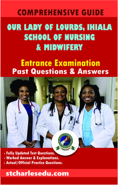 Entrance Exam Past Questions with Answers for Our Lady of Lourdes School of Nursing and Midwifery Ihiala, Anambra State. Therefore you are in the right place. Registered Nurse Rn, Rn Nurse, Question Paper, Question And Answer, Past Questions, This Or That Questions, Nursing Council, Nursing School Requirements, Past Exams