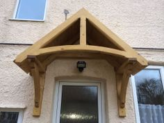 Timber front door canopy/porch