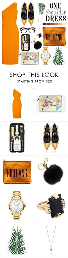 """""""One shoulder Dress 👗"""" by wannanna ❤ liked on Polyvore featuring Narciso Rodriguez, Casetify, Sarah Baily, MICHAEL Michael Kors, Movado, Marni, Nika and Aéropostale"""