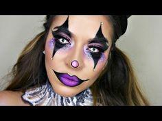 Sexy Glam Circus Clown Makeup Tutorial | Halloween Makeup - YouTube