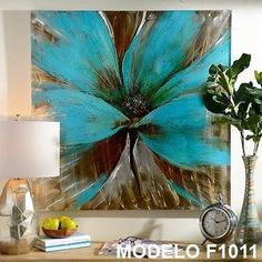 Effulgent color and shine makes our Bright Blue Flower Canvas Art Print the perfect choice for adding color to your wall décor. Make a splash with this print! Canvas Art Prints, Canvas Wall Art, Flower Canvas Art, Beautiful Paintings, Painting Inspiration, Wall Art Decor, Framed Art, Artwork, Exotic Flowers