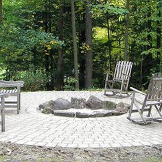 Paver Fire Circle by Landscape Creations Nursery