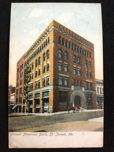 1908 German American Bank, St. Joseph, MO postcard