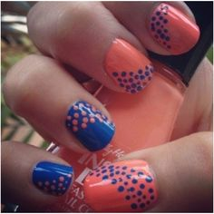 Not colors I would pick but with one accent nail, could be cute