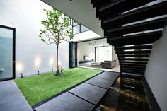Edmund Ng Architects Architecture Courtyard, Skylight, Serenity, Architects, Facade, Indoor, Mansions, House Styles, Modern