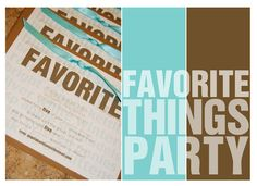 Favorite things party, this sounds like fun!