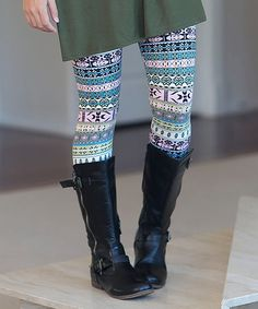 These Olive Geometric Leggings are perfect for wearing under my tunics and dresses and add that extra layer of warmth so necessary for the colder months!