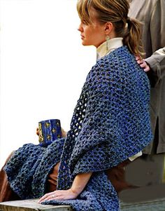 Ravelry: Crochet Wide Scarf  - I like the drape ... something cozy to leave at work. Easy simple pattern.