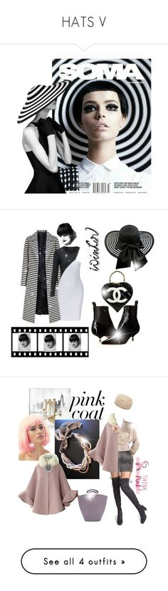 """HATS V"" by gulokmini ❤ liked on Polyvore featuring Vivienne Westwood, Chanel, iCanvas, Balmain, Yves Saint Laurent, Chicwish, Jon Richard, Ted Baker, Louis Vuitton and Mark & Graham"