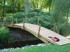 30ft. wooden arch bridge