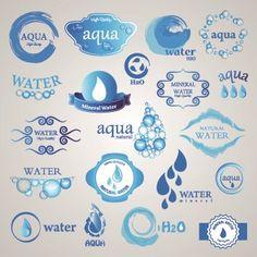 Water logos creative design vector 01