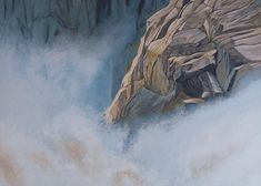 #waterfall oil painting on canvas
