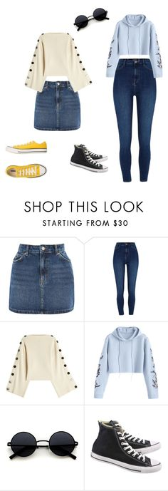 """""""For the day"""" by drzonowska on Polyvore featuring moda, Topshop, River Island, Petar Petrov i Converse"""