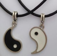 If you are her Yin, make her your Yang. #green #ecofriendly #healthyplanet #environment #gifts #lifestyle #greenhome #gogreen #ourplanet Yin Yang, Best Friend And Lover, Leather Necklace, Vintage Silver, Necklace Set, Jewelry Accessories, Vintage Fashion, Pendants, Personalized Items