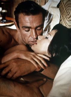 Sean Connery and Zena Marshall in Dr No