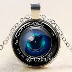 Vintage-Camera-Lens-Cabochon-Tibetan-silver-Glass-Chain-Pendant-Necklace-f23