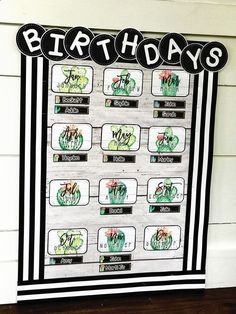 Cactus Classroom Theme - Farmhouse Classroom Theme - Birthday Display - This cac. - Cactus Classroom Theme – Farmhouse Classroom Theme – Birthday Display – This cactus classroom - First Grade Classroom, New Classroom, Classroom Setup, Classroom Design, Classroom Displays, Kindergarten Classroom, Classroom Organization, Birthday Display In Classroom, Elementary Classroom Themes