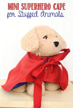 Make a Mini Cape for your Stuffed Animals