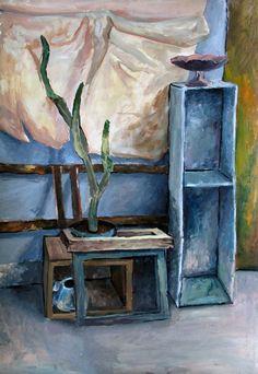 painting, acrylic on cardboard, 100 x 70