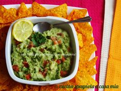 GUACAMOLE MESSICANO, ricetta finger food Cucina Spagnola A Casa Mia