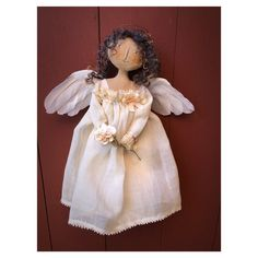 Your place to buy and sell all things handmade Primitive Doll Patterns, Bramble, Fabric Squares, Paper Roses, Silk Ribbon, Her Hair, Dress Making, Fairies, Sculpting