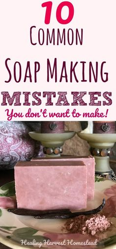 Soap Making Mistakes and Frequently Asked Questions: Making your own handmade soap is FUN! But it's easy to make mistakes when you first start out. Soap making errors can range from just wasting product to being down right dangerous. Find out the most common soap making mistakes so you don't make them and common questions new soap makers ask.