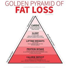 Golden Pyramid of Fat Loss! Have you been spinning your wheels trying to lose fat? For so long I focused on the wrong thing. I wasn?t tuned into my diet I was doing boatloads of cardio not lifting weights drinking skinny teas and taking fat burners. Diet Food To Lose Weight, Quick Weight Loss Tips, Losing Weight Tips, Healthy Weight Loss, How To Lose Weight Fast, Losing Weight Quotes, Foods For Fat Loss, Gym Workouts To Lose Weight, Weight Gain
