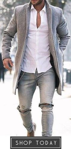 Autumn and winter fashion pure color long warm coat outfits casual outfits moda masculina outfits hipster outfits ideas outfits with boots Best Business Casual Outfits, Trajes Business Casual, Cool Outfits For Men, Business Outfit, Popular Outfits, Style Masculin, Outfit Trends, Mode Outfits, Men's Fashion Styles