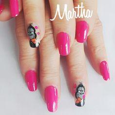 Pelana gorila Diana, Nails, Beauty, Work Nails, Nail Techniques, Caricatures, Centre, Finger Nails, Ongles