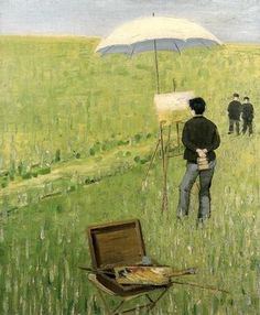 The Painter in Plein Air - Charles Angrand Post Impressionism, Impressionist, Artist Art, Artist At Work, Charles Angrand, Georges Seurat, Pointillism, French Art, Plein Air