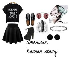 """American horror story"" by carlyfaithh on Polyvore featuring FitFlop, Breckelle's, Christian Dior, Avenue and AeraVida"