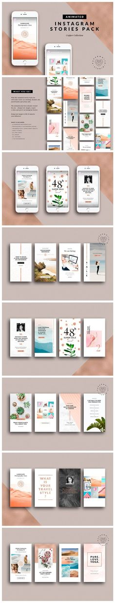 ANIMATED Instagram Copper Stories by Paperwhite Studio on @creativemarket