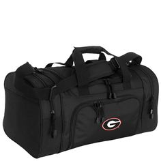 Show your appreciation for your favorite school by traveling with this large duffel bag. The bag is spacious enough for holding everything you need for a week-long trip. A 44-inch long shoulder strap makes it easier to get through a crowded airport.