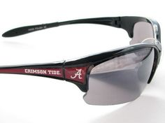 Support Your Alabama Crimson Tide with these Comfortable, Elite, and stylish mens sunglasses. Shout to everyone where your pride lies without even saying a word wherever you go. They feature Scratch Resistant Lenses, NCAA Officially Licensed Logos, UVA 400 Protection, and UVB 400 Protection. Support your team and show your pride with these officially licensed Alabama Crimson Tide Sunglasses brought to you by Sports Accessory Store.