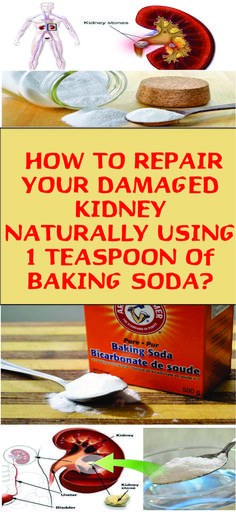 How To Repair Your Damaged Kidney With Only 1 Teaspoon Of Baking Soda - perdre du poids Baking Soda For Dandruff, Baking Soda Face, Baking Soda Uses, Baking Soda Shampoo, Kidney Detox Cleanse, Liver Cleanse, Natural Cures, Natural Health, Home Beauty Tips