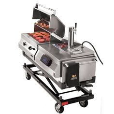 Grill N Chill with Grill, Stereo, Cooler, Draft System and 6 in Caster Kit