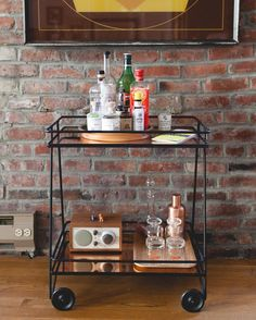 """A home tour essential: my bar cart essentials! See more on Jojotastic.com  by @meghanklein"""