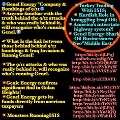 """Turkey Trading With ISIS;  Kurdish Role in Smuggling Iraqi Oil;  America's interstate highway system?!  Genel Energy:Shark  Oil Businessmen  Neo""""Middle East """"  ♐️ North Iraq/Rotchield & Turkey's Intriguing Agenda of Transporting Iraq Oil To US & Turkey/Israel getting  75% Iraq & Kurdish oil from Turkey. !!!  Who from? Genel? Or ISIS? Or Erdogan fronting for Genel and buying from ISIS?    Whether there is war or peace in Iraq,   whether the country holds together or falls apart,"""