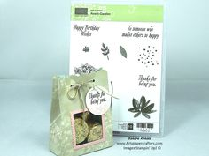 Paper crafting tutorial that shows you how to make this handmade Pretty Gift Bag with see through Window using Stampin' Up crafting products.