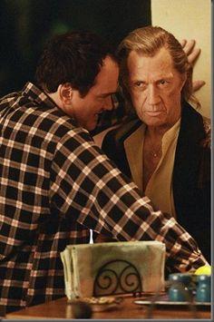 Quentin Tarantino directing David Carradine on set of Kill Bill Vol. 2 - 2004