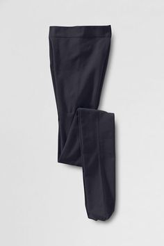 Women's Opaque Control Top Tights from Lands' End - true navy