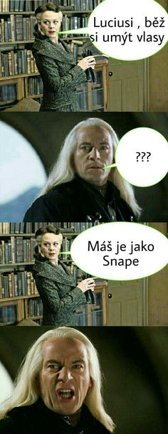 Harry Potter Vtipy - Lucius - Wattpad Ema Watson, Medical Humor, Harry Potter Movies, Voldemort, Fantasy Books, Bloom, Draco Malfoy, Fantastic Beasts, Hogwarts