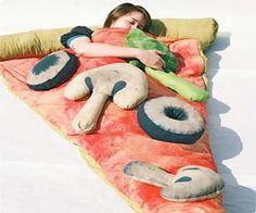 Un eslipin bag de PIZZA!!! (para sueños muy sabrosos!)