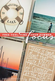 Do you need a fresh start to kick off the summer? Download a FREE focus-finding tool for scrapbookers.