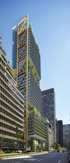 425 Park Avenue Tower, New York City by Rogers Stirk Harbour Partners :: 44 floors :: competition entry